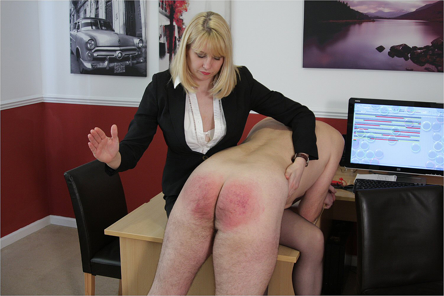 Ladies who spank men remarkable, this