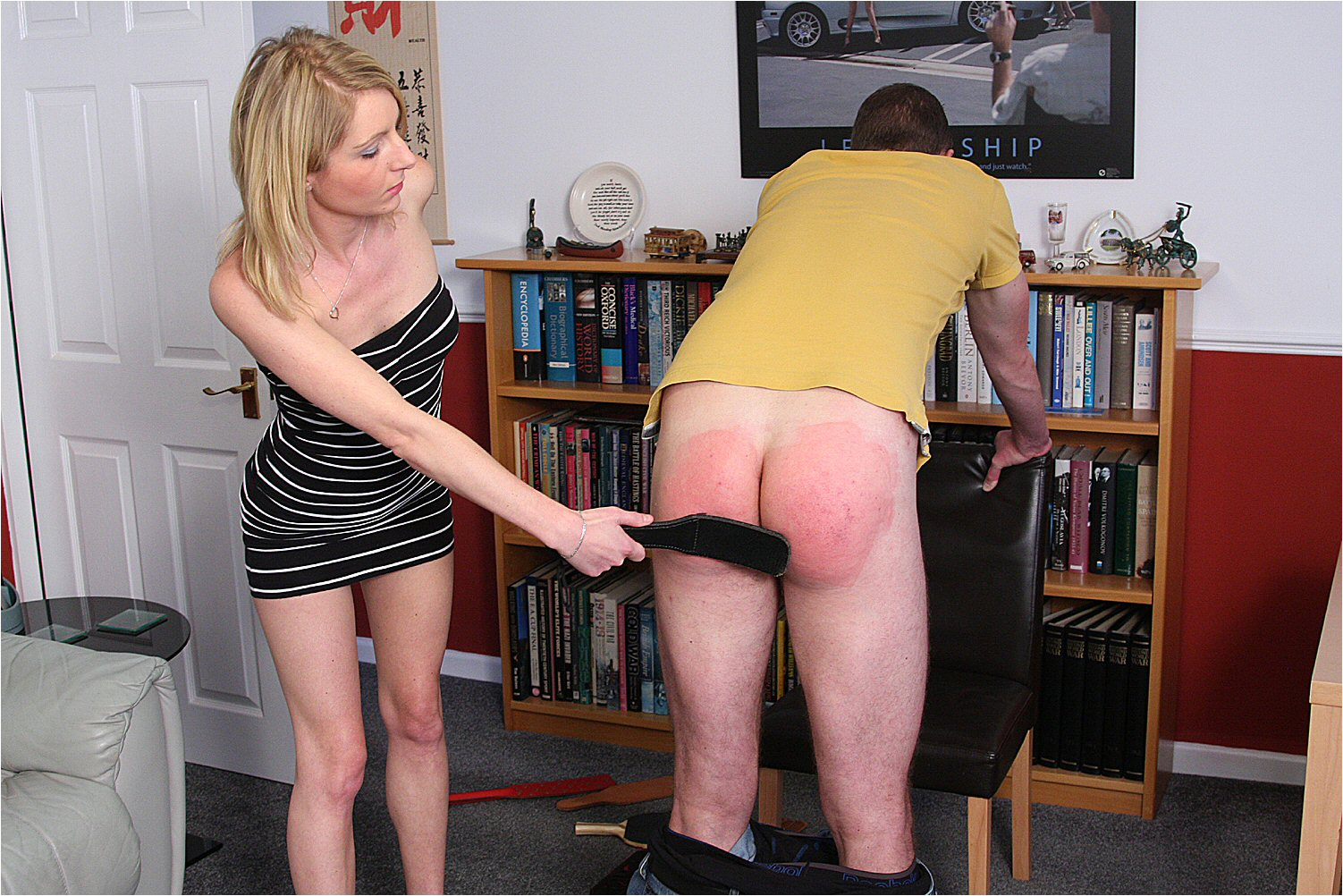Create man cane spank process