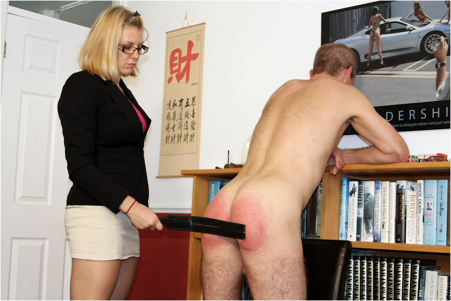 Parents spank daughter hard