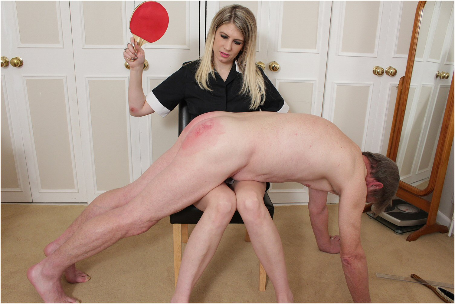Women spanking men hard