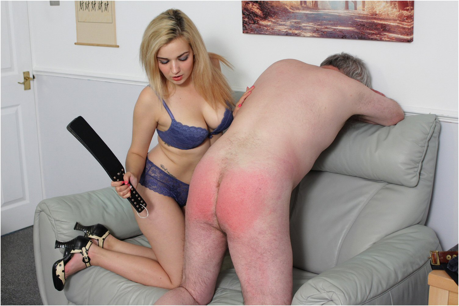Domination female spanking loves take