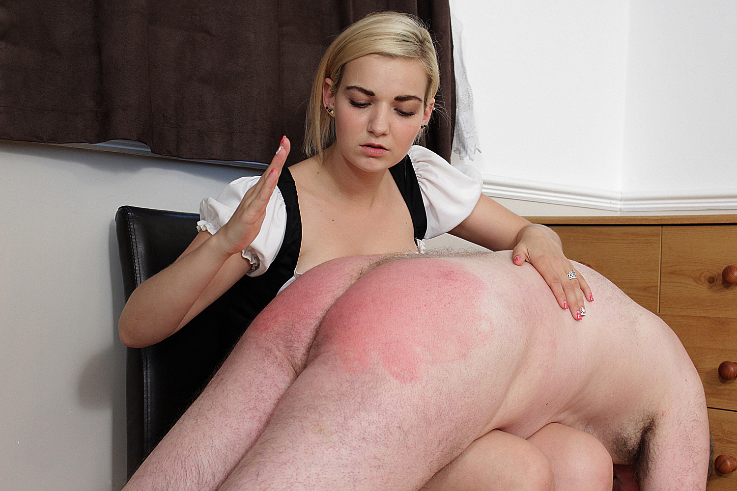 Women spank boys tube and have