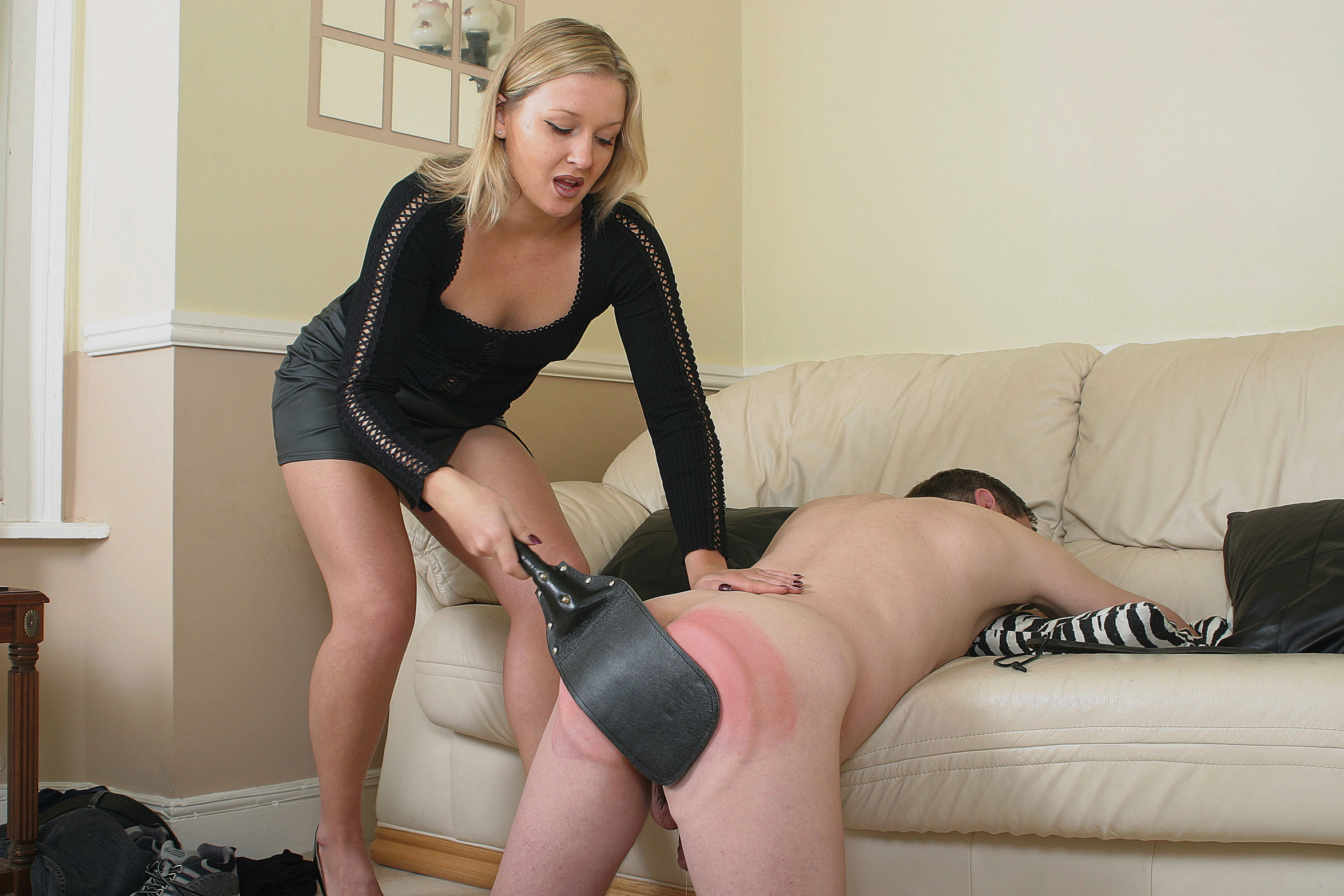 Spread-eagle tied and forced orgasm