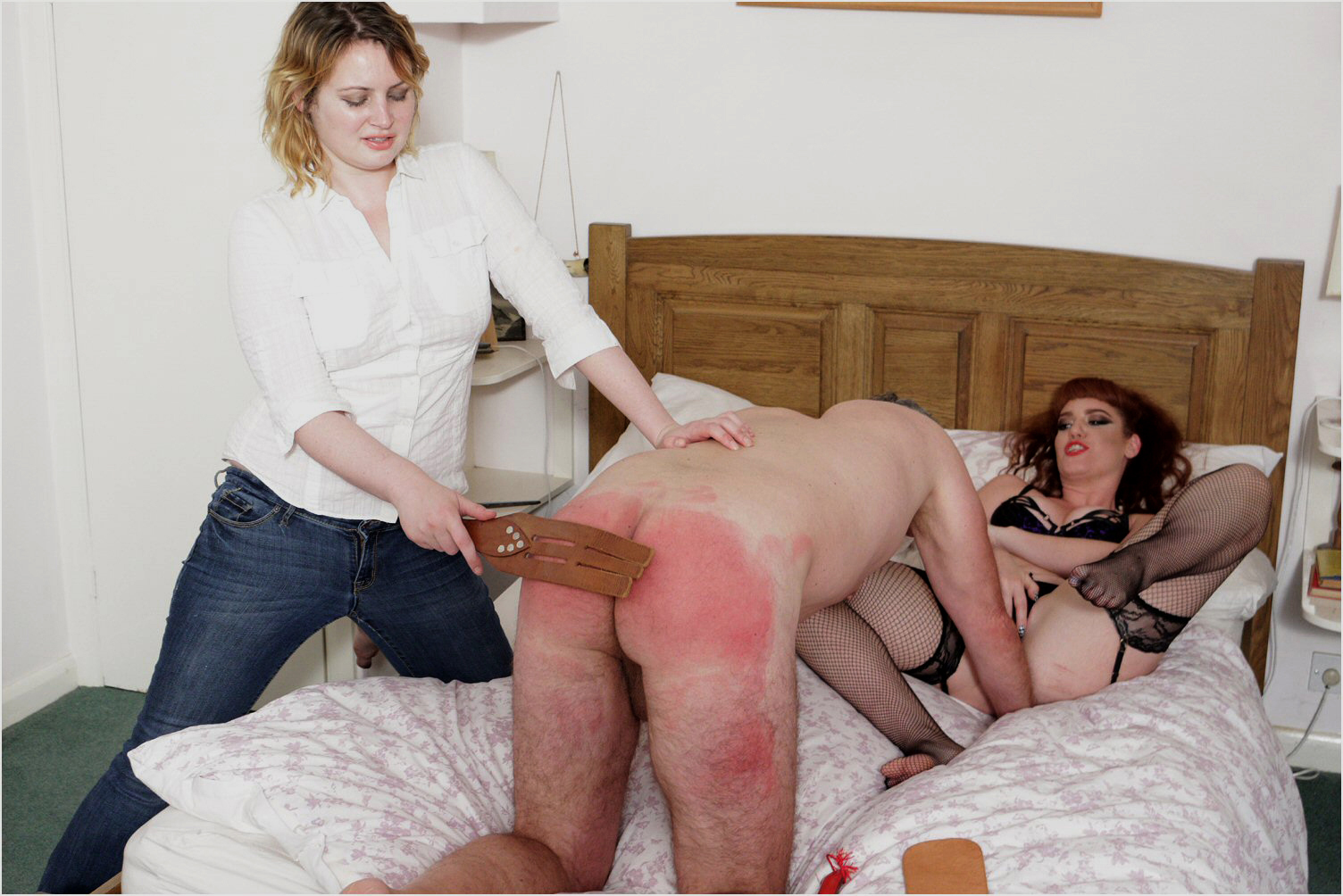 Men spanked by women