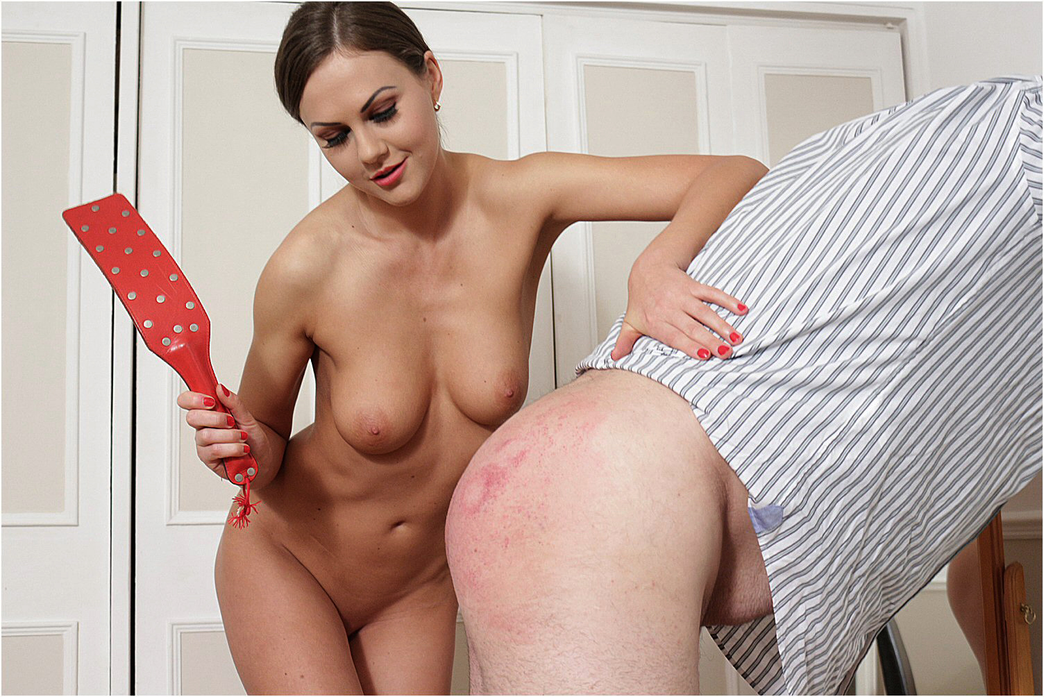 Spanked by a woman